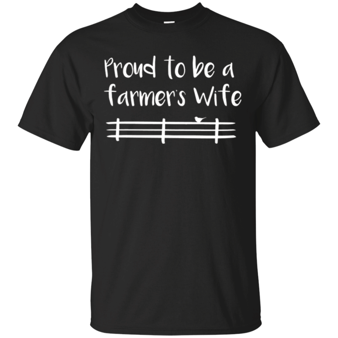 Proud To Be A Farmers Wife Cute Funny Farming T-Shirt