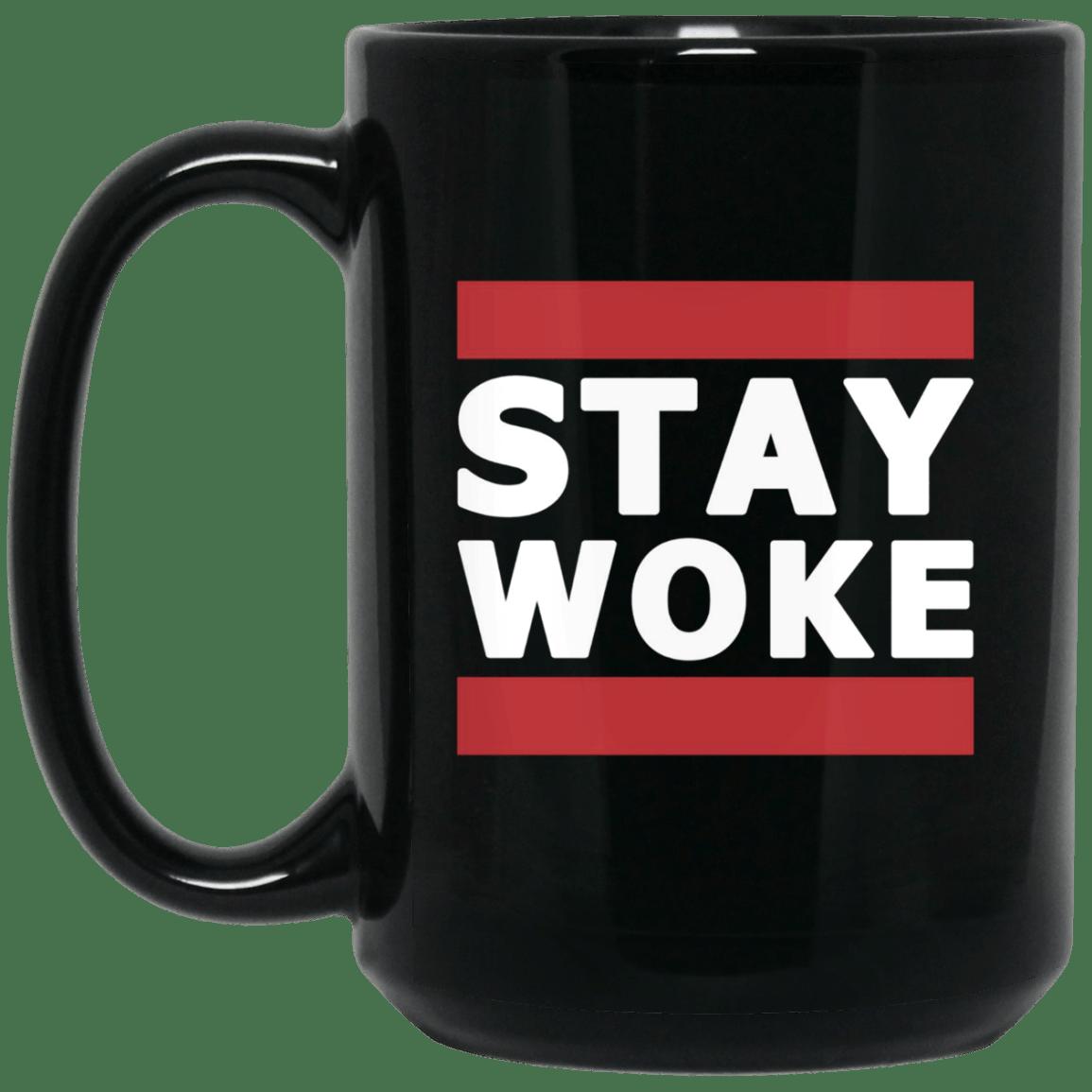 Hashtag stay woke protest mug