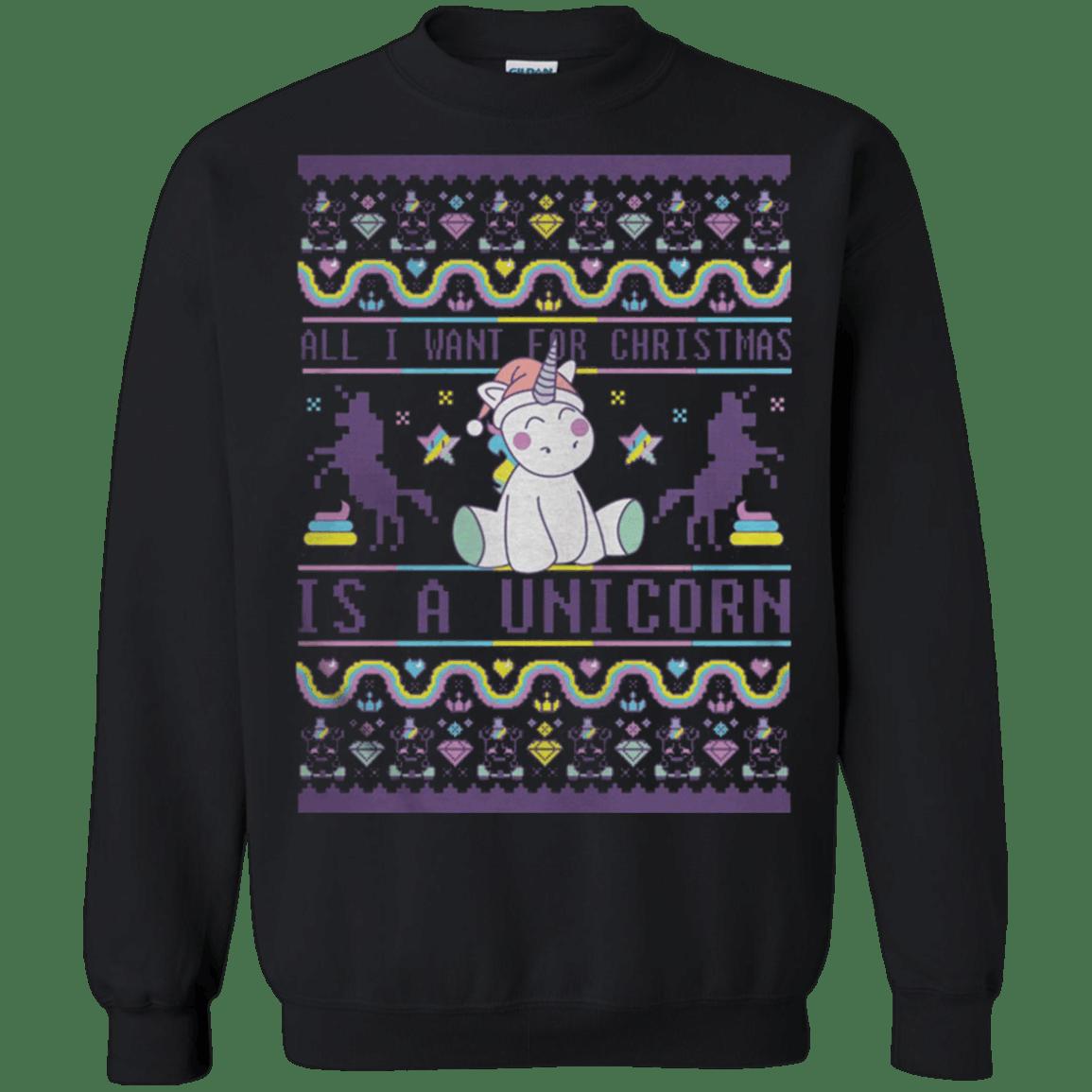 All I want for Christmas is a Unicorn Ugly Sweater G180 Gildan Crewnec