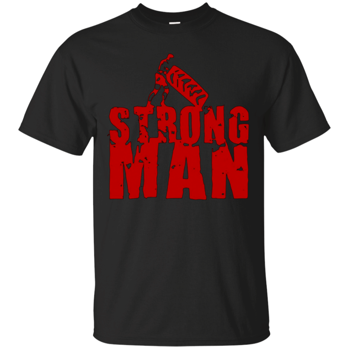 STRONGMAN T-SHIRT Powerlifting Gym Weights Powerlifting Tee