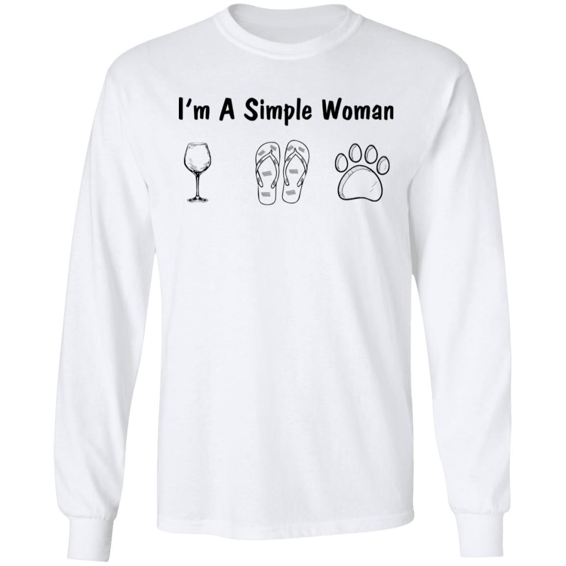 I'm A Simple Woman I Like Wine Flip Flops And Dog shirt