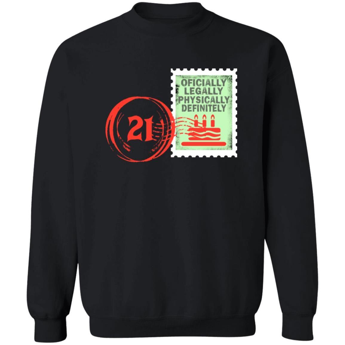 Birthday Stamp 21 Black shirt