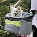 Dog Basket For Bike Pet Bicycle Carrier For Puppy Or Small Breeds