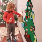 Felt Christmas Tree Set With Ornaments For Kids
