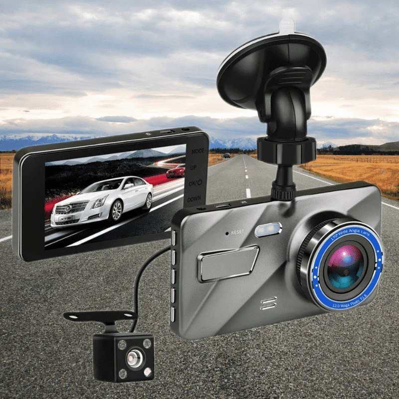 Front And Rear Dash Cam Surveillance (1080P Hd)