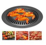 Korean Bbq Cast Iron Grill Plate With Non-Stick Pan
