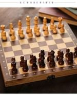 Large Magnetic Wooden Folding Chess Set