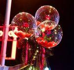 Led Luminous With Rose Balloon