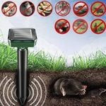 Outdoor Solar Ultrasonic Pest Repellent - Ultrasonic Animal Repellent Outdoor - Solar Powered Waterproof Animal Repeller