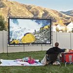 """Portable Outdoor Movie Projector Screen - 150"""""""