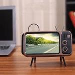 Retro Tv Phone Holder & Bluetooth Speaker