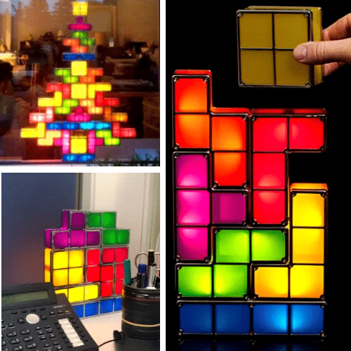 Tetris Led Stackable Night Lamp
