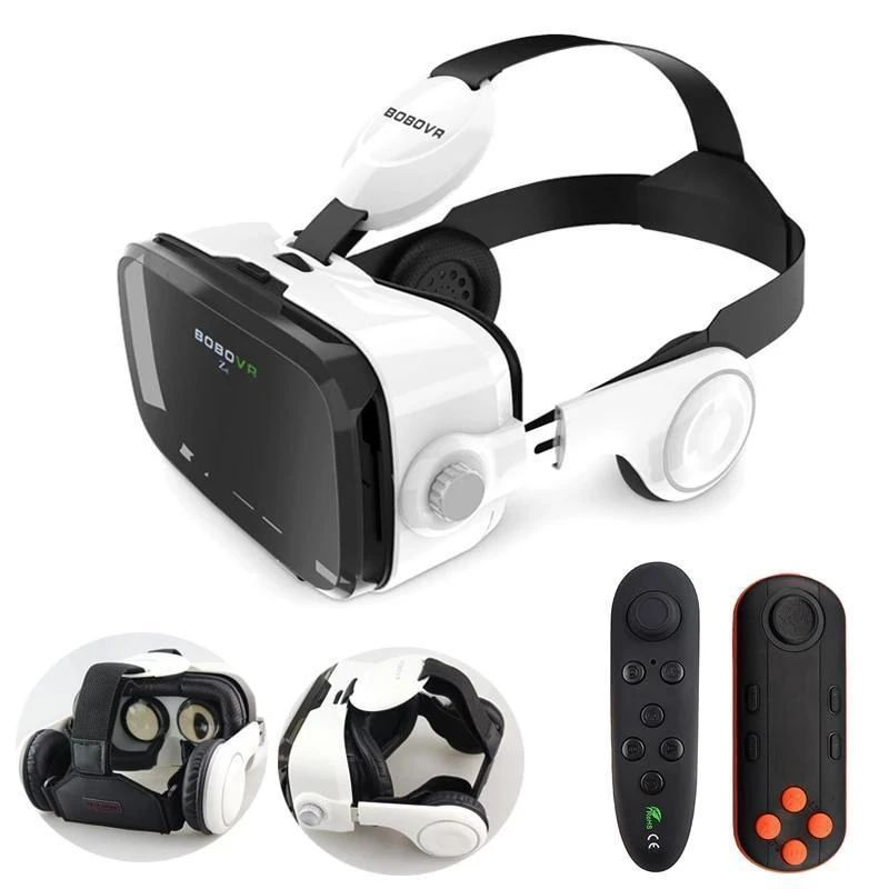 Vr Kit Virtual Reality Glasses With Stereo Headset For Mobile Phones