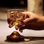 Wooden Mountain  Whiskey Glass Bottom