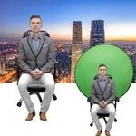 Collapsible Green Screen Background Backdrop For Chair