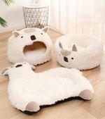 Plush Alpaca Cat Bed