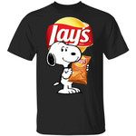Snoopy And Lay's T-shirt Funny Snack Tee