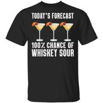 Today's Forecast 100% Whiskey Sour T-shirt Cocktail Tee