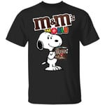 Snoopy And M&M's T-shirt Funny Snack Tee