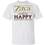 Zaya Makes Me Happy T-shirt Rum Tee