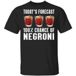 Today's Forecast 100% Negroni T-shirt Cocktail Tee