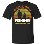 Dad And Son Fishing Partners For Life T-Shirt Fishing Lover