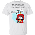 Here's The World Famous Starship Captain Snoopy T-shirt
