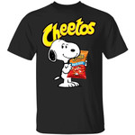 Snoopy And Cheetos T-shirt Funny Snack Tee