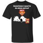 Sometimes I Need To Be Alone And Eat Cheez It T-shirt Snoopy Tee