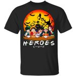 Anime Heroes Halloween Shirt Anime Characters Eating Tee