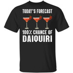 Today's Forecast 100% Daiquiri T-shirt Cocktail Tee