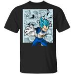 Dragon Ball Vegeta Blue Shirt Anime Character Mix Manga Style Tee