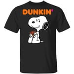 Snoopy Eating Dunkin' T-shirt Fast Food Tee