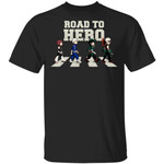 Road To Hero My Hero Academia Abbey Road T-shirt Anime Tee
