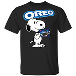 Snoopy And Oreo T-shirt Funny Snack Tee