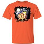 Naruto And Sasuke on Pumpkin Shirt Anime Halloween Tee