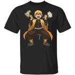 Demon Slayer Zenitsu Holding Thunder God Weapons Shirt Parody Anime Tee