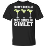Today's Forecast 100% Gimlet T-shirt Cocktail Tee