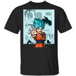 Dragon Ball Blue Goku Shirt Anime Character Mix Manga Style Tee