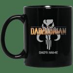 The Dadalorian Mandalorian Dad Custom Name Mug Mando's Symbol