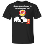 Sometimes I Need To Be Alone And Eat Lay's T-shirt Snoopy Tee