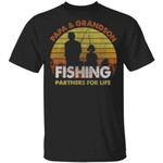 Papa And Grandson Fishing Partners For Life T-Shirt Fishing Lover
