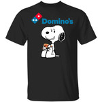 Snoopy Eating Domino's T-shirt Fast Food Tee