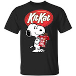 Snoopy And Kit Kat T-shirt Funny Snack Tee