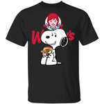 Snoopy Eating Wendy's T-shirt Fast Food Tee