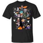 Dragon Ball Characters on Halloween Tree Shirt Saiyans Halloween Tee