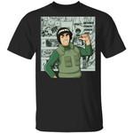 Naruto Might Guy Shirt Anime Character Mix Manga Style Tee