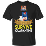 Quaker Helping Me Survive Quarantine T-shirt