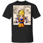 Dragon Ball Goku Super Saiyan Shirt Anime Character Mix Manga Style Tee