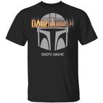 The Dadalorian Mandalorian Dad Custom Name T-shirt Helmet Tee